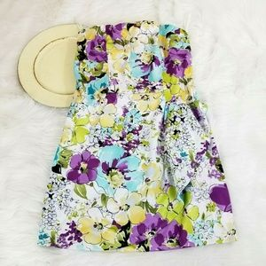 Alyn Paige Dress Strapless Floral Wrap Spring
